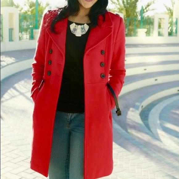 e3dcde6a Zara Jackets & Coats   Trf Trafaluc Red Doublebreasted Coat Small ...
